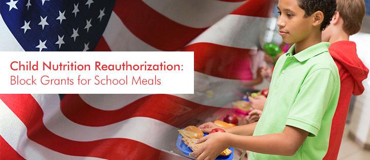 block grants for school meals