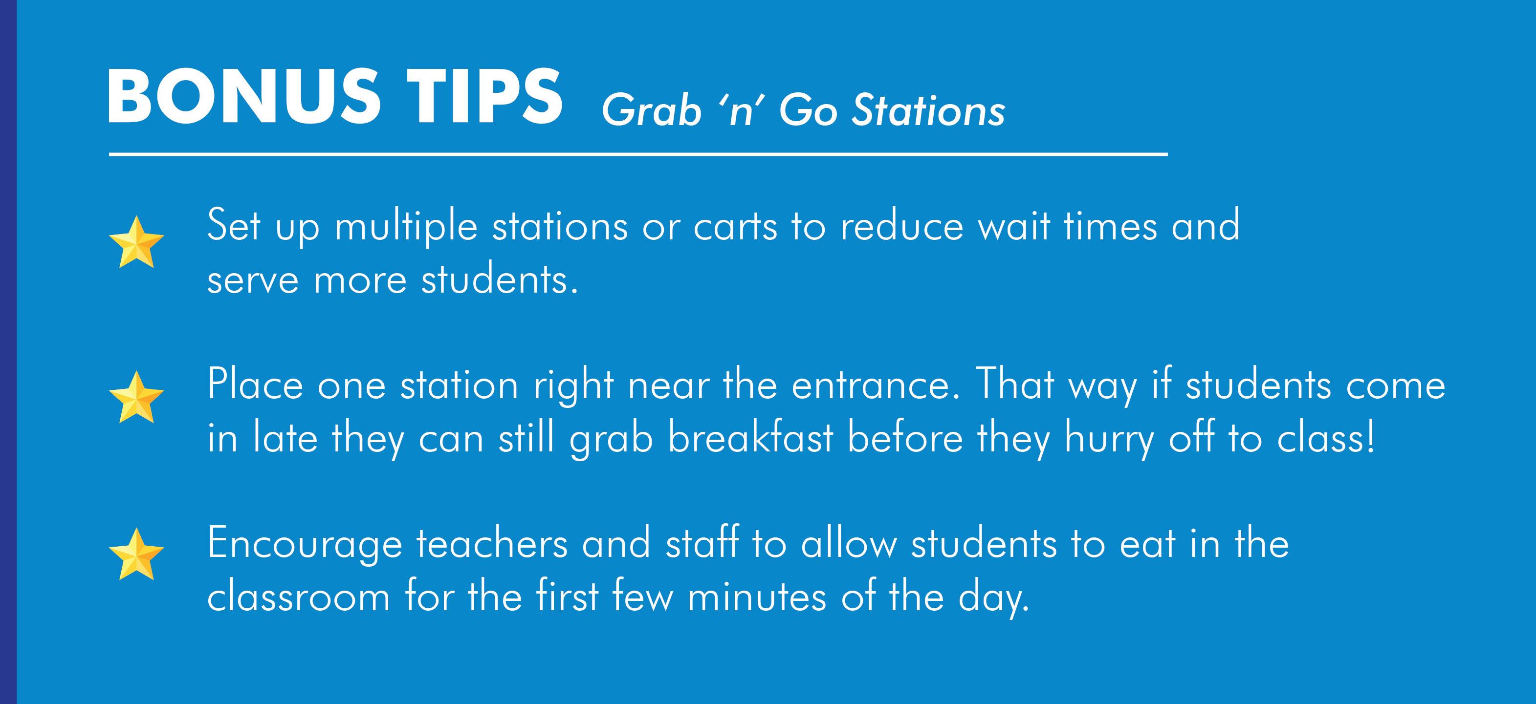 Grab 'n' Go School Breakfast Service Model