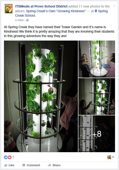 Provo City School District School Nutrition Facebook Page