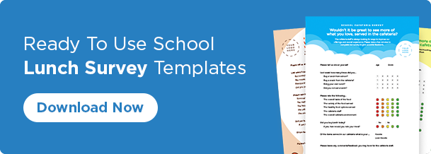 Ready to use school lunch survey templates