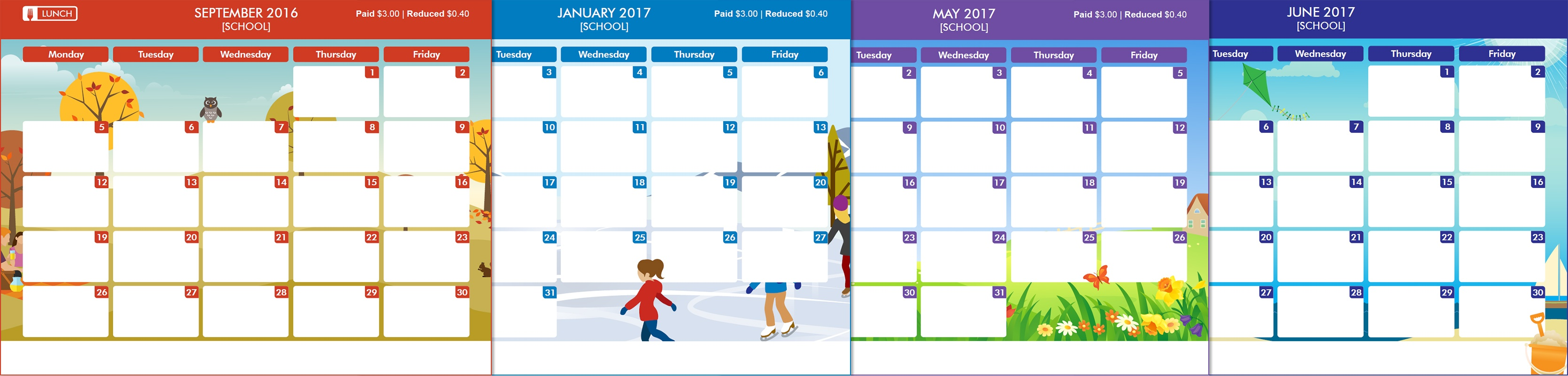 Free school menu templates are back for the 2017 18 school year pronofoot35fo Images
